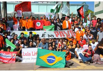Petroleiros realizam ato em defesa da Petrobrás em Salvador