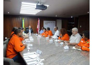 Em reunião com o Sindipetro, governador Rui Costa afirma sua posição contra a venda de unidades do Sistema Petrobrás na Bahia