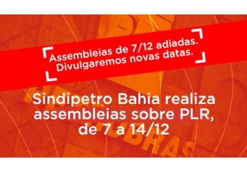 ATENÇÃO Adiadas as assembleias de (7/12) sexta-feira