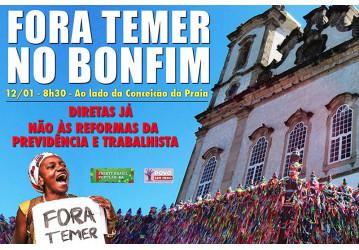 Movimento sindical na Lavagem do Bonfim