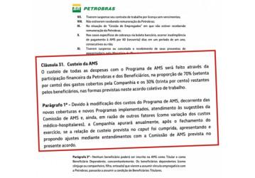 Ação unilateral da Petrobrás sobre a AMS é descumprimento do ACT