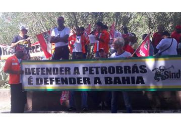Sindicatos e movimentos sociais fazem ato na governadoria contra privatizações