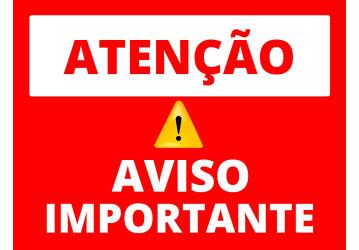 Aviso: sexta-feira (16) não haverá atendimento ao público
