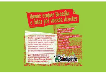 Contribua com qualquer valor para a campanha 'Vamos Ocupar Brasília'