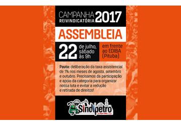 Sindipetro convoca categoria para AGE, neste sábado, 22, no EDIBA