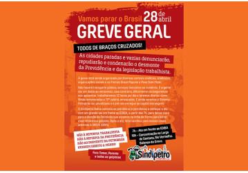 Agenda de mobilização para a greve geral do dia 28 de abril