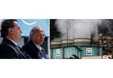 Bolsonaro e Guedes venderão metade das refinarias da Petrobrás