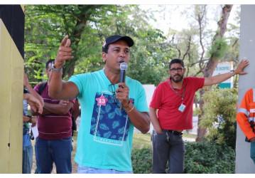 Petroleiros da Bahia saem a campo em defesa da democracia e contra o fascismo