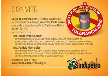 II Curso benzeno - ao vivo no Facebook do Sindipetro