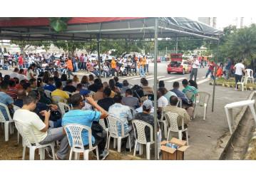 Bahia - Categoria petroleira protesta contra fechamento e venda de fábricas de fertilizantes