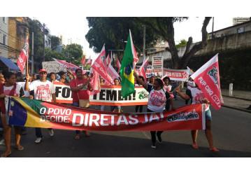 Sindipetro participa da mobilização contra as reformas e por Diretas Já