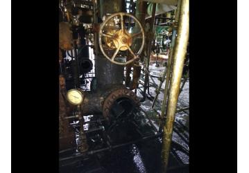 Primeira consequência da redução do efetivo na RLAM - Acidente com V-12 e condensado quente na partida da U-6 causa queimadura em operador