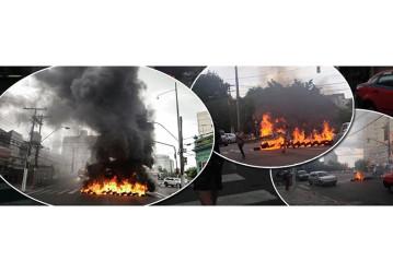 Revoltada com condenação de Lula sem provas, população incendeia Porto Alegre