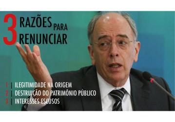 Em carta a Pedro Parente, FUP exige sua renúncia