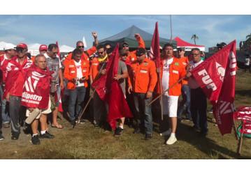 Petroleiras e Petroleiros na defesa da democracia em Porto Alegre