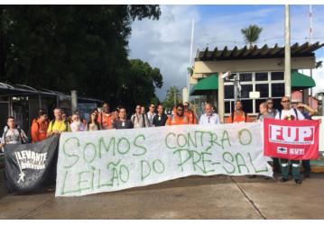 FUP e sindicatos se mobilizam contra entrega do Pré-Sal e da Transpetro