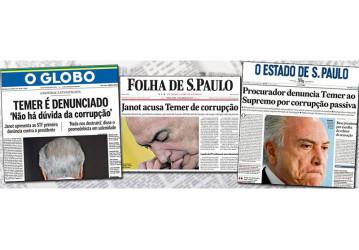 Mídia consegue algo inédito: um presidente denunciado por corrupção