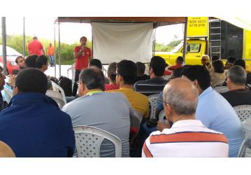 RLAM –  Sindipetro Bahia realiza mais um ato que fortalece greve no refino