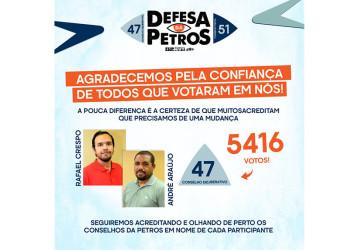 Apenas 13% dos participantes votaram para os Conselhos da Petros
