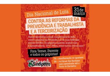 31 de março - Dia Nacional de Mobilização rumo a Greve Geral