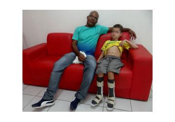 Pai de criança com vírus HIV agradece doações da categoria