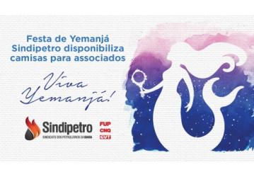 Sindipetro disponibiliza camisas para associados participarem de ato na Festa de Yemanjá