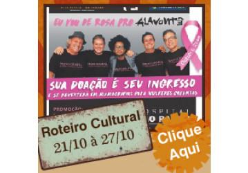 Roteiro cultural 21/10 a 27/10