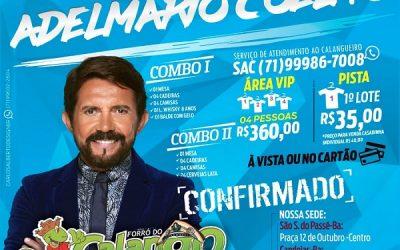 Já estão à venda as camisas do Forró do Calango
