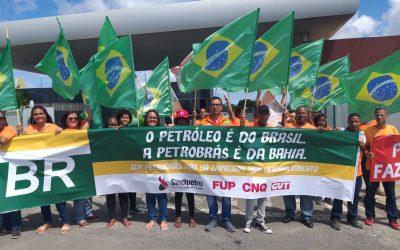 Sindipetro Bahia realiza protesto durante discussão do Reate 2020