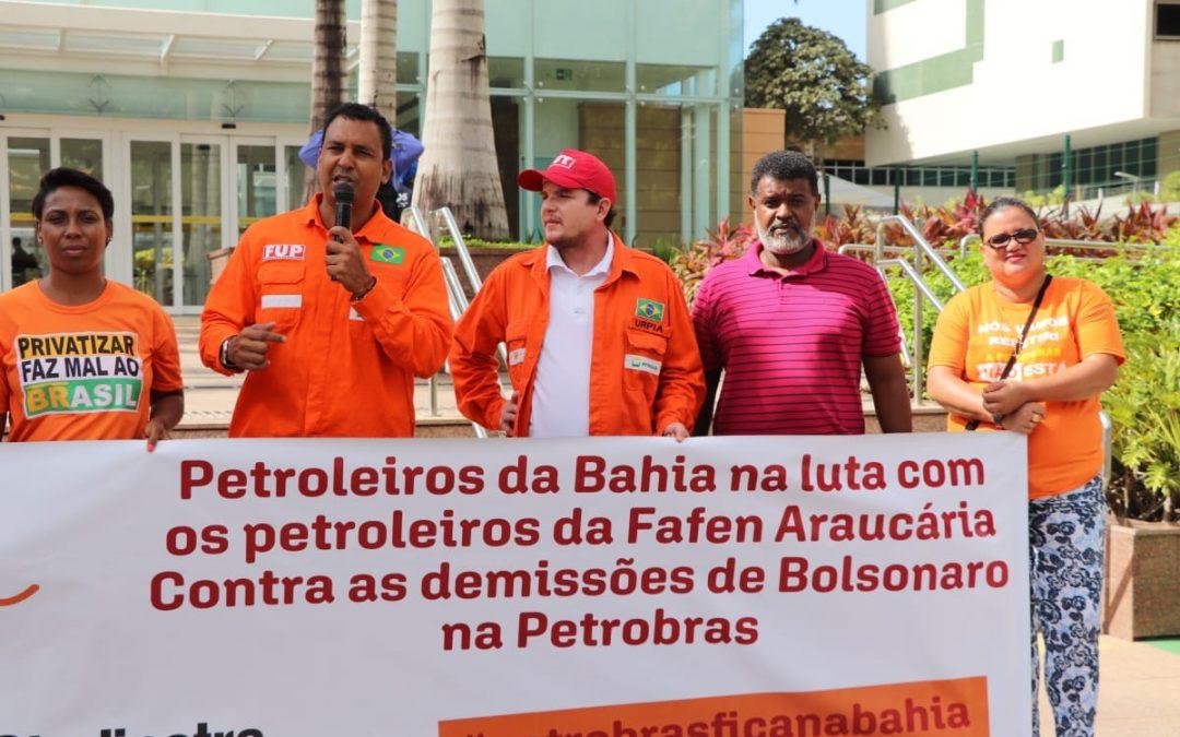 Sindipetro Bahia participa de ato que acontece em todo o Brasil em defesa da Fafen Araucária