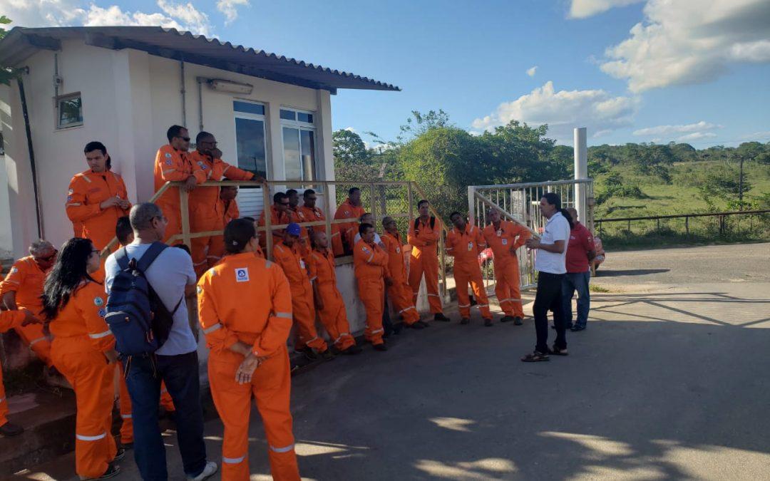 Trabalhadores da Perbras, do contrato de manutenção, paralisam as atividades nesta terça (14)