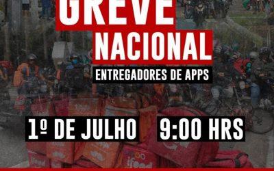 FUP apoia a greve dos entregadores e convoca petroleiros a não usarem aplicativos nesta quarta