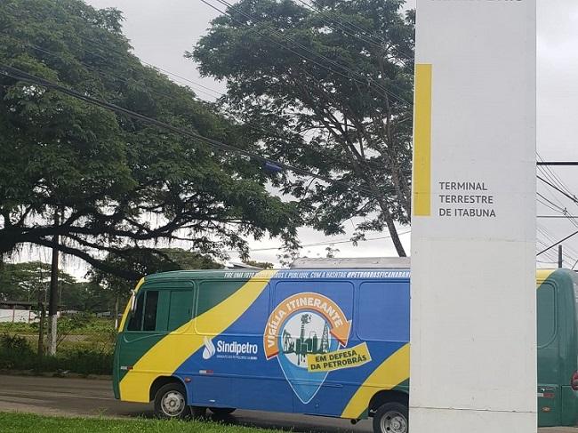 Vigília itinerante em defesa da Petrobrás e da Bahia chega à cidade de  Itabuna, onde está localizado o ORSUB