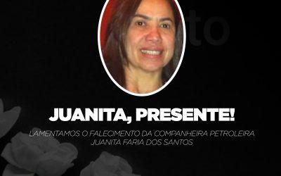 Sindipetro Bahia lamenta o falecimento da petroleira Juanita Faria dos Santos