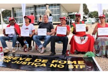 Grupo completa uma semana em greve de fome 'contra a volta da fome'