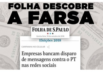 Jornal denuncia caixa 2 na campanha de Bolsonaro