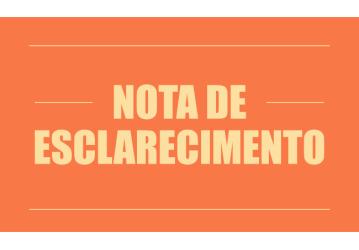 NOTA DE ESCLARECIMENTO