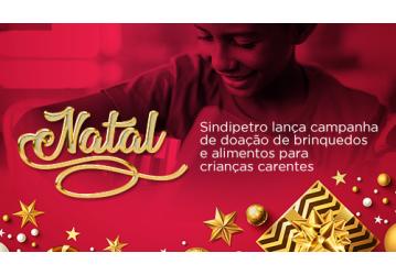 Natal - Sindipetro lança campanha de doação de brinquedos e alimentos para crianças carentes