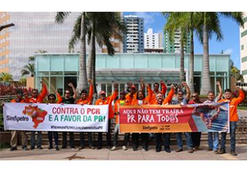 Petroleiros da Bahia realizam ato contra o PCR e a favor da PR