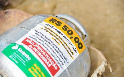 Ação do Sindipetro Bahia – Gás de cozinha será vendido por R$ 50,00 em Alagoinhas, nesta quinta (16)